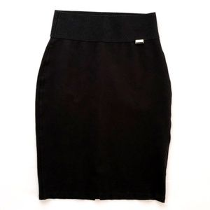 Calvin Klein Stretchy Pencil Black Skirt Small